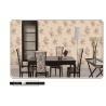 China 2018 latest design European flower design PVC wallpaper washable waterproof wholesale