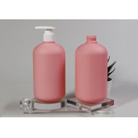 China 500ML Custom Cosmetic Bottles Lotion Pump Shampoo Container wholesale