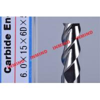 China HRC50 Aluminum End Mill Cutter / Hss End Mill Bright Surface 6mm 8mm 3 Flute wholesale