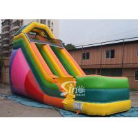 China 19' custom made colorful inflatable dry slide with lead free material wholesale
