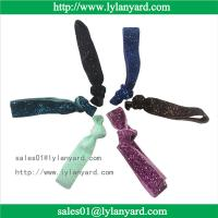 China Wholesale Fashion Knotted Glitter Elastic Hair Tie and Headband wholesale