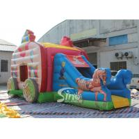 China Kids Pink Princess Carriage Inflatable Bouncy Castle Slide With Lead Free Material wholesale