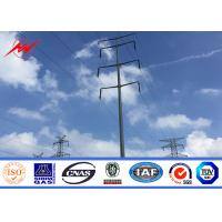 China 12M Galvanized Electric Power Pole Q345 Material for 110KV Transmission wholesale