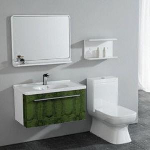 China Crocodile pattern leather bathroom vanity, mirror measures 800x120x660mm on sale