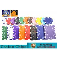 China Oversized Rectangular Printable Plastic Ept Poker Chips 11.5g - 32g 3.3mm Thickness wholesale