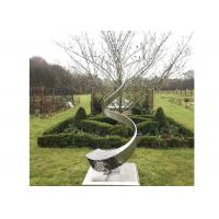Buy cheap High Polished Stainless Steel Sculpture Contemporary Metal Landscape Sculpture from wholesalers