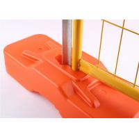 Buy cheap RAL 2009 Powder Coated Temporary Fencing Panels OD 32mm x 1.4mm Mesh 6cmx15cm from wholesalers