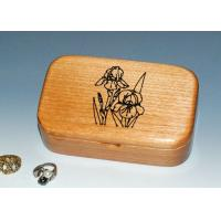 China Natural Wood Solid Timber Jewellery Box , Handmade Wooden Earring Jewelry Box wholesale