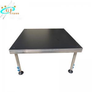 China 6061-T6 Aluminum Leg Wooden Stage Platform 750kg/Sqm wholesale