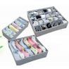 China 3PCS Underwear Bra Socks Ties Divider Closet Container Storage Box Organizer Set wholesale