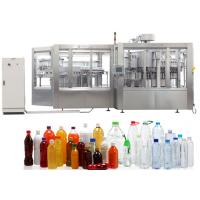 Quality Stainless Steel Pure Water / Carbonated Beverage Filling Machine For PET Bottle for sale