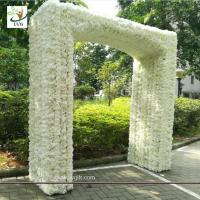China UVG 2.5 meters artificial rose and hydrangea flower entrance for wedding hall decoration CHR1145 wholesale