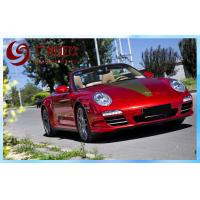 China Red Chrome Wrap Vinyl Film 1.52*30m With Air Free Bubbles For Car Cover wholesale