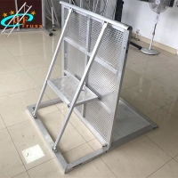 China Ensure Safety 1M*1.2M*1.2M Aluminum Finish Stage Barriers wholesale