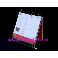 China 2015 Clear Acrylic Business Calendar shelve / Acrylic Calendar Holder wholesale