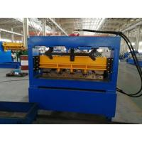 China 0.8 - 1.2mm thickness Hydraulic Cutting Floor Deck Roll Forming Machine For Color Galvanized Steel Sheet wholesale