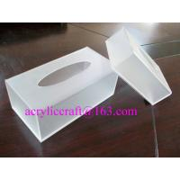 China Plexiglass / PMMA / Acrylic Tissue Box For Hotel And Home Made In China wholesale