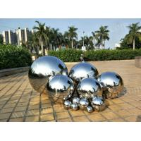 China Modern Artwork Stainless Steel Ball Sculpture Mirror Polished Surface Customized Size on sale