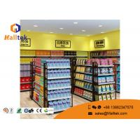 China Cold - Rolled Steel Supermarket Gondola Shelving Easy Assemble Light Duty Type wholesale