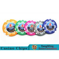 High Precision Casino Poker Chip Set / Poker Table Set For Gambling Games for sale