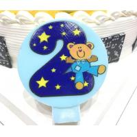 China Cute Round Shape Number Printable Birthday Candles For Cake Decorating No Smoking wholesale