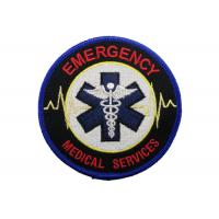 Quality Medical Services Embroidery Patch, Custom Embroidery Patches With Iron Glue On Back Side for sale