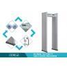 China 6 / 12 Zones Walk Through metal detector door , metal scanner detector Anti Interference wholesale