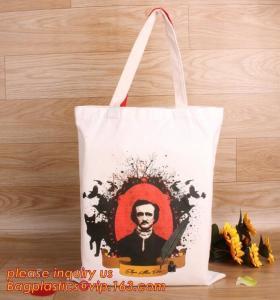 China Promotional wholesale custom natural handled organic plain cotton tote bag, cotton shopping bag, cotton bags bagplastics on sale