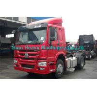 Quality SINOTRUK HOWO 336hp Prime Mover Truck in Red , Unloading Diesel 4x2 Trucks , Color Can Be Selected for sale