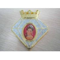 Quality Grosse Junkersdorfer 3D Zinc Alloy / Pewter Carnival Medal by Purple Rhinestone, Gold Plating for sale