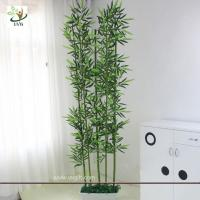 UVG wholesale decorative artificial lucky bamboo in silk and plastic leaves for