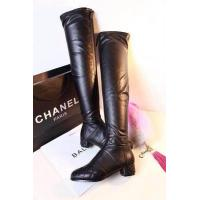 China wholesale New C-hanel designer black leather top 1:1 original quality lady's fashion boots wholesale