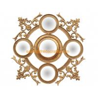 China Elegant Design Resin Decorative Wall Mirror, Hand Made Antique Gold Iron Art Mirror (FR-15131) wholesale