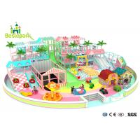 Macaron Theme Kids Plastic Indoor Playground With Slide Multi - Functional