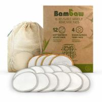 China Reusable Makeup Remover Pads Bamboo Makeup Remover Pads With Laundry Bag Washable And Eco-Friendly For All Skin wholesale