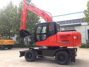 China 25MPa Rubber Tire Earth Excavation Machine wholesale