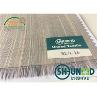 China Horse Tail Woven Interlining Fabric For Uniform And Business Casual Suits wholesale