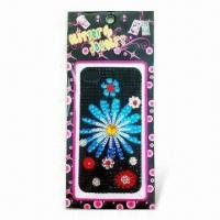 China Shinny Sticker with Fashionable Pictures, Safe and Non-toxic, Decorated with Rhinestones wholesale