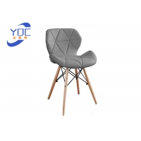 Buy cheap Exquisite PU Modern Dining Chair Wooden Leg Scandinavian Style from wholesalers