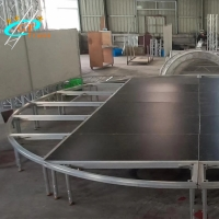 China Round Outdoor 6061-T6 Aluminum Stage Platform Anticrack wholesale