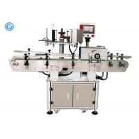 China PLC Control Semi Automatic Label Applicator Machine , Electric Round Bottle Labeling Machine  on sale