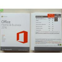 China Microsoft Office 2016 Home And Business PKC / Retail Version / OEM COA Sticker wholesale