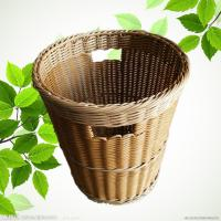 PP Weaving Rattan Plastic Dirty Clothes Baskets/Bins Organizer with Handles