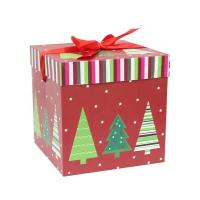 China Luxury Cardboard Square Christmas Ornament Packaging Boxes Custom Logo Printing wholesale