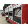 China 2x Halogen Lamp Tanker Fire Truck , 260 L/Min Flow Light Rescue Fire Trucks wholesale