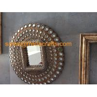 China High Quality New Design Round PU decorative Wall Mirror For Living room/Hotel wholesale