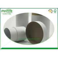 China Eco - Friendly White Cardboard Tubes , Custom Paper Tube Packaging Dampproof wholesale