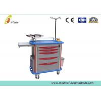 Quality Hospital Luxury ABS Emergency Medical Trolley Crash Cart With Drawer And IV Pole (ALS-MT116) for sale