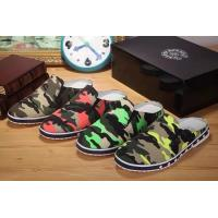 China 2014new C-hrome hearts male recreational canvas slippers camouflage designer top men shoes wholesale