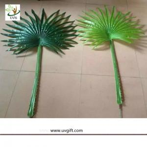 China UVG environmentally friendly material fake plastic Fan palm leaves for indoor trees decoration PTR063 wholesale